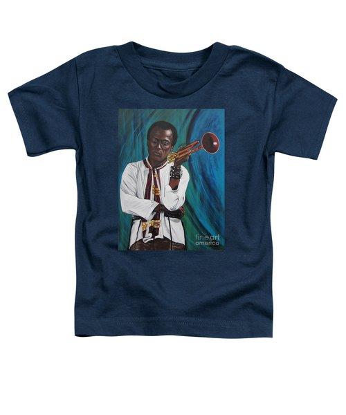 Blaa Kattproduksjoner     Miles-in A Really Cool White Shirt Toddler T-Shirt