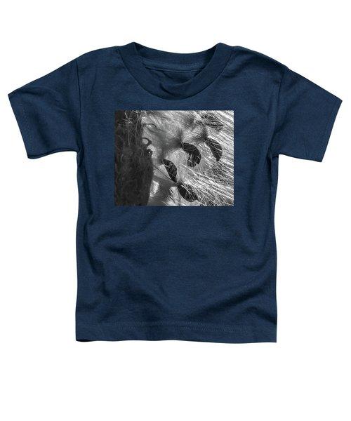 Milkweed Sunburst In Black And White Toddler T-Shirt