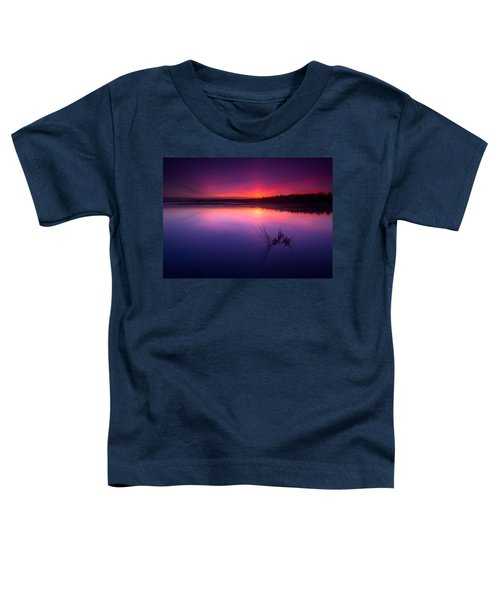 Misty Sunset At Singing Sands Beach Toddler T-Shirt