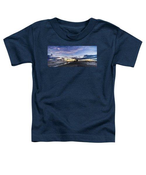 Moonlit Beach Sunset Seascape 0272c Toddler T-Shirt