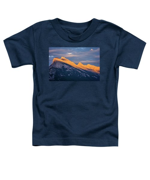 Mt Rundle Sunset Banff Toddler T-Shirt