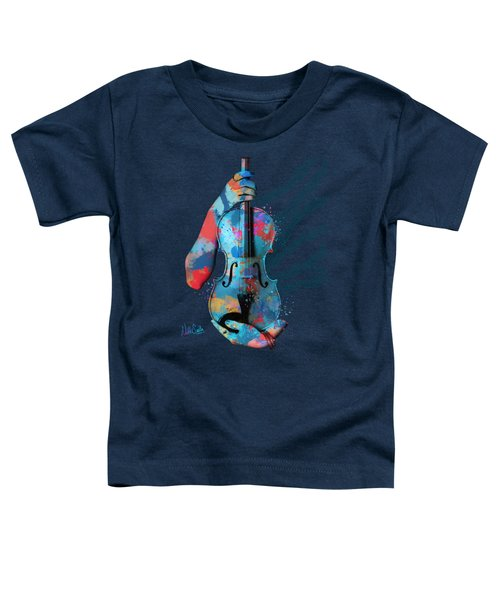 My Violin Whispers Music In The Night Toddler T-Shirt by Nikki Marie Smith