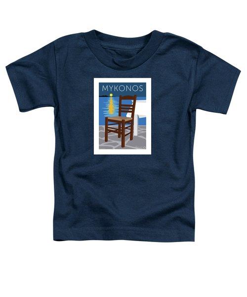Mykonos Empty Chair - Blue Toddler T-Shirt