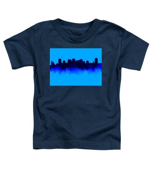 Nashville  Skyline Blue  Toddler T-Shirt by Enki Art