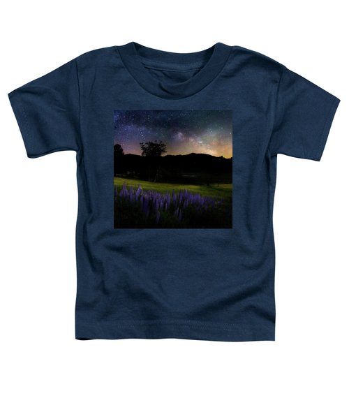 Toddler T-Shirt featuring the photograph Night Flowers Square by Bill Wakeley