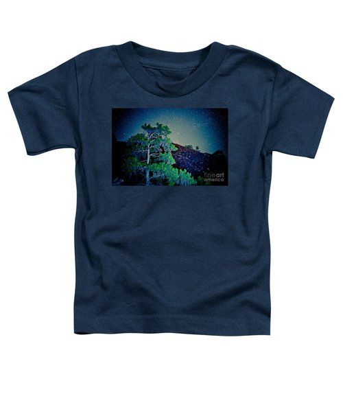 Night Sky Scene With Pine And Stars Artmif.lv Toddler T-Shirt