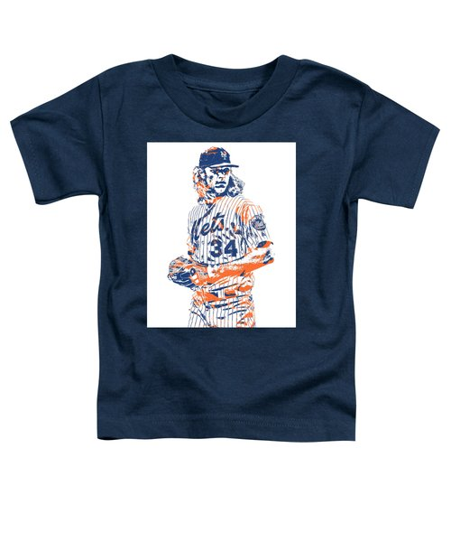 Noah Syndergaard New York Mets Pixel Art 1 Toddler T-Shirt