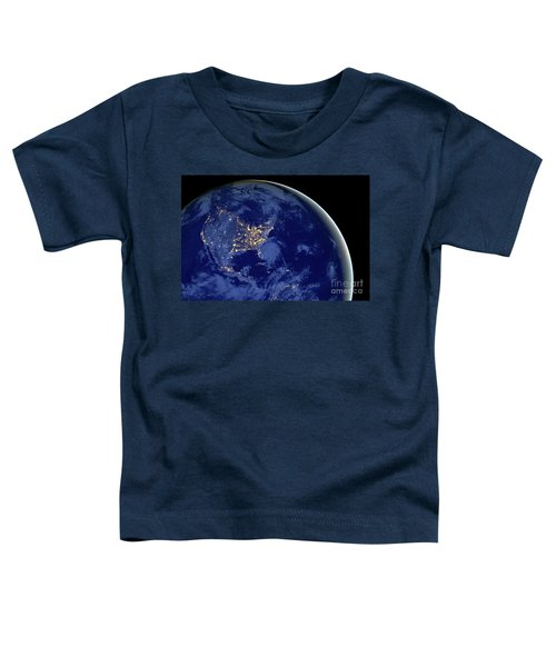 North America From Space Toddler T-Shirt