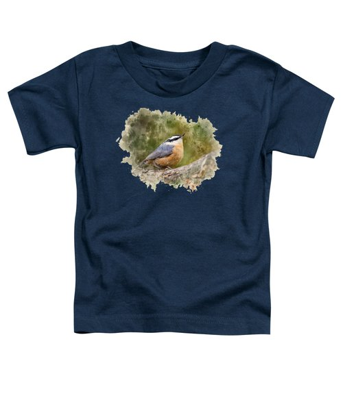 Nuthatch Watercolor Art Toddler T-Shirt