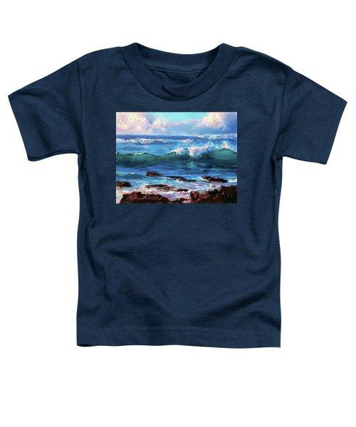 Coastal Ocean Sunset At Turtle Bay, Oahu Hawaii Beach Seascape Toddler T-Shirt