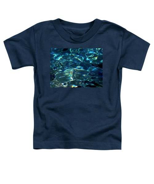 Toddler T-Shirt featuring the photograph Ocean Water Reflections Island Santorini Greece by Colette V Hera  Guggenheim
