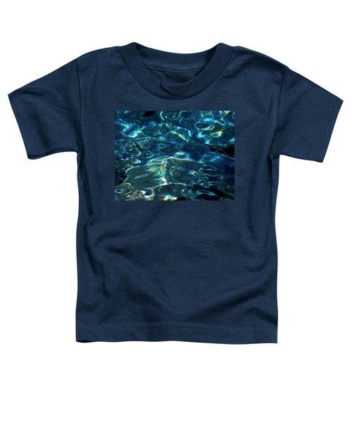 Ocean Water Reflections Island Santorini Greece Toddler T-Shirt