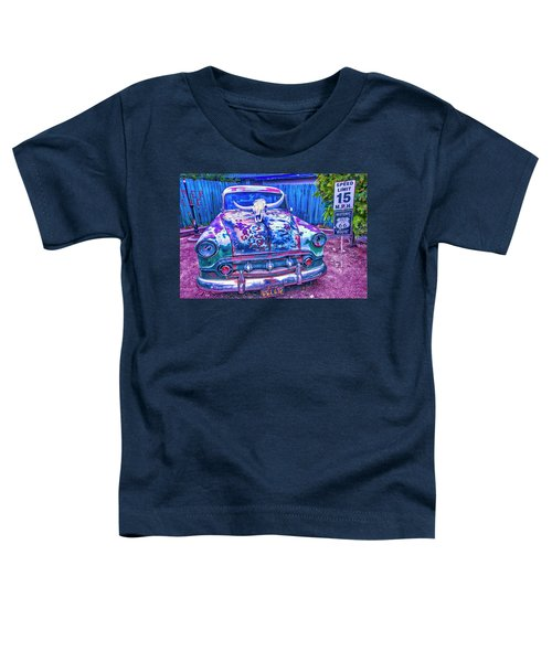 Old Car With Steer Skull Toddler T-Shirt