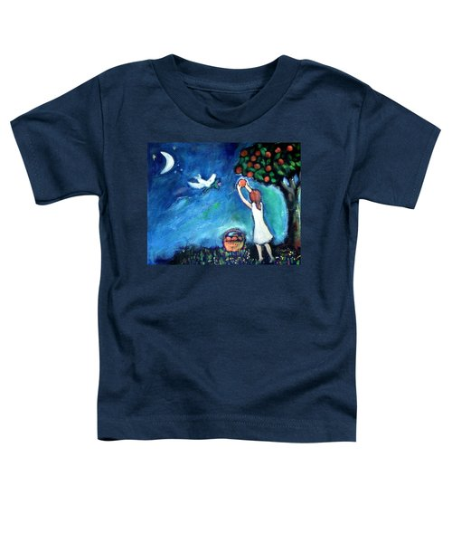 Toddler T-Shirt featuring the painting Oranges Song by Winsome Gunning