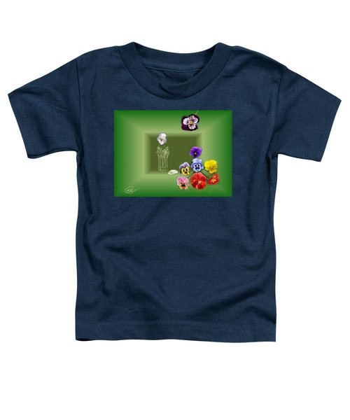 Pansies  Toddler T-Shirt
