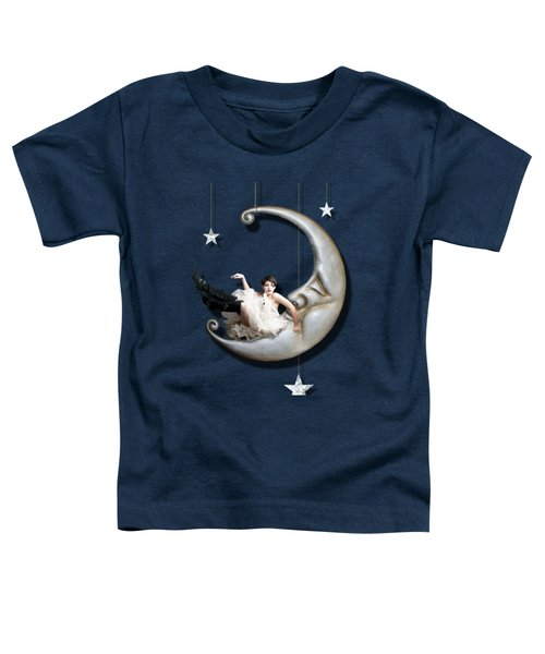 Toddler T-Shirt featuring the digital art Paper Moon by Linda Lees