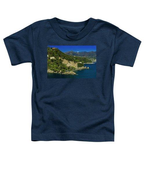 Paraggi Bay Castle And Liguria Mountains Portofino Park  Toddler T-Shirt