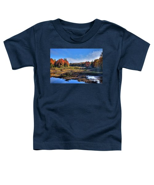 Toddler T-Shirt featuring the photograph Patches Of Fog At The Green Bridge by David Patterson