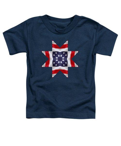 Patriotic Star 2 - Transparent Background Toddler T-Shirt