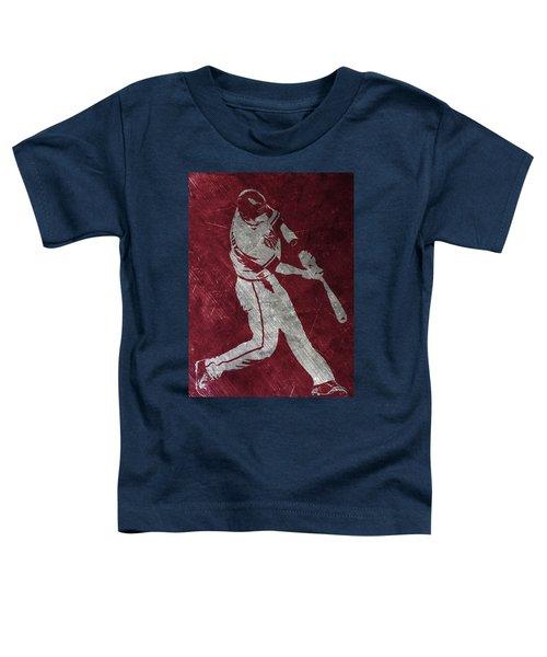 Paul Goldschmidt Arizona Diamondbacks Art Toddler T-Shirt by Joe Hamilton