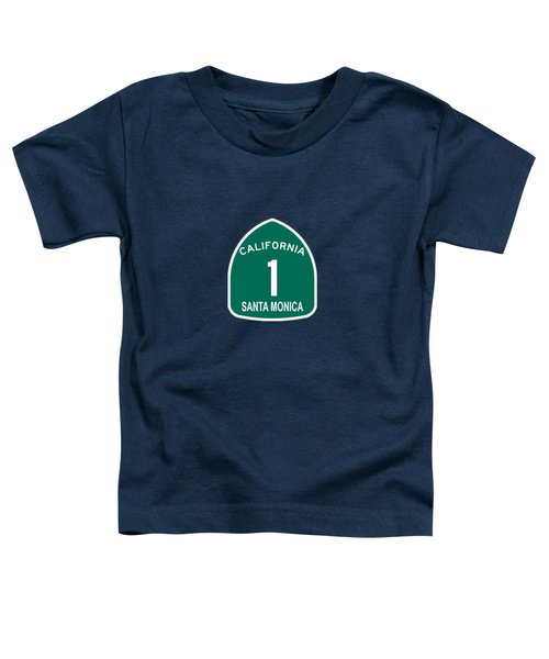 Pch 1 Santa Monica Toddler T-Shirt by Brian's T-shirts