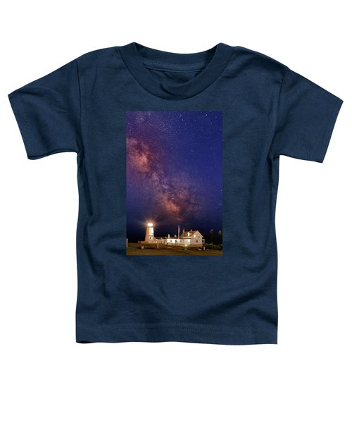 Pemaquid Point Lighthouse And The Milky Way Toddler T-Shirt