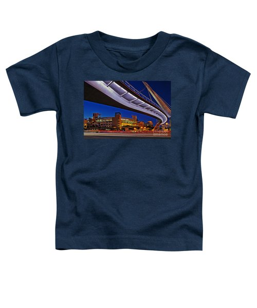 Petco Park And The Harbor Drive Pedestrian Bridge In Downtown San Diego  Toddler T-Shirt