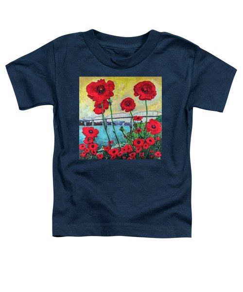 Poppies Along The Riverfront Toddler T-Shirt