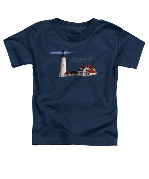 Portland Head Light No. 43 Toddler T-Shirt by Mark Myhaver