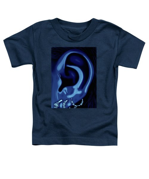 Portrait Of My Ear In Blue Toddler T-Shirt