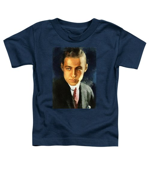 Portrait Of Rudolph Valentino Toddler T-Shirt