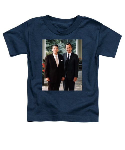 President Reagan And George H.w. Bush - Official Portrait  Toddler T-Shirt