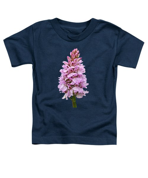 Radiant Wild Pink Spotted Orchid Toddler T-Shirt by Gill Billington