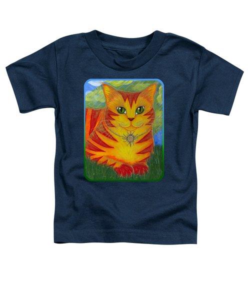 Rajah Golden Sun Cat Toddler T-Shirt