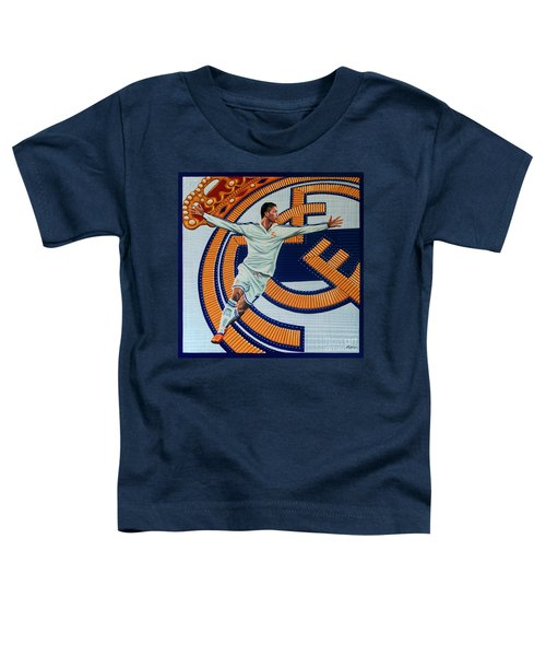 Real Madrid Painting Toddler T-Shirt by Paul Meijering