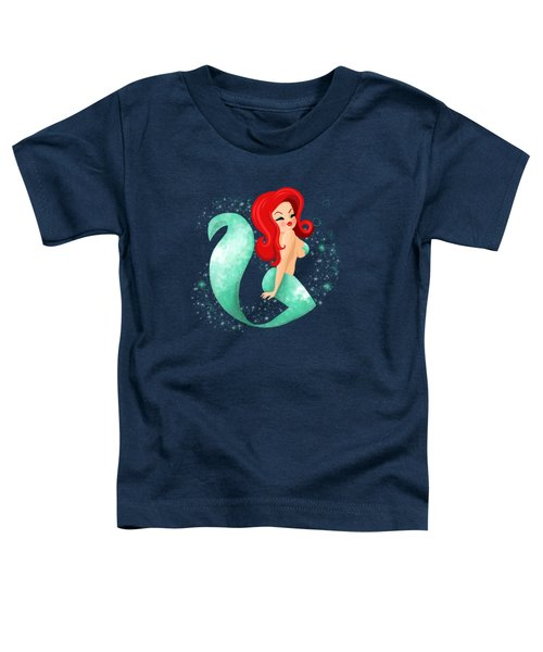 Red Haired Firecracker Mermaid Toddler T-Shirt