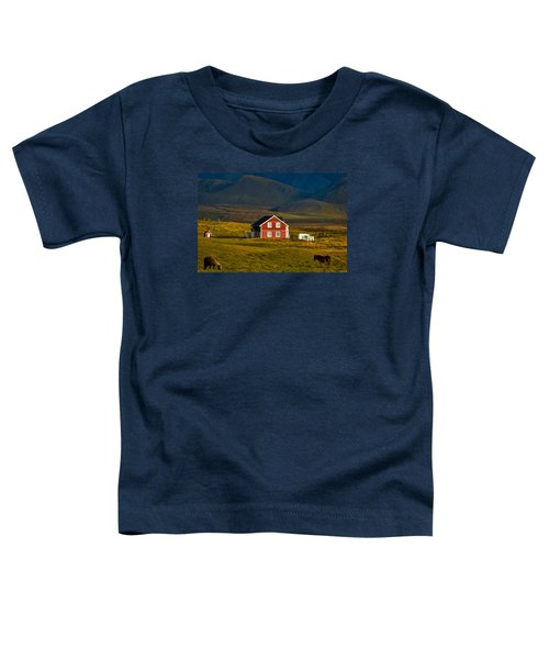 Red House And Horses - Iceland Toddler T-Shirt