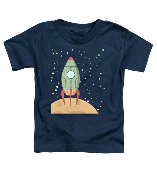 Retro Spaceship Toddler T-Shirt by Krokoneil