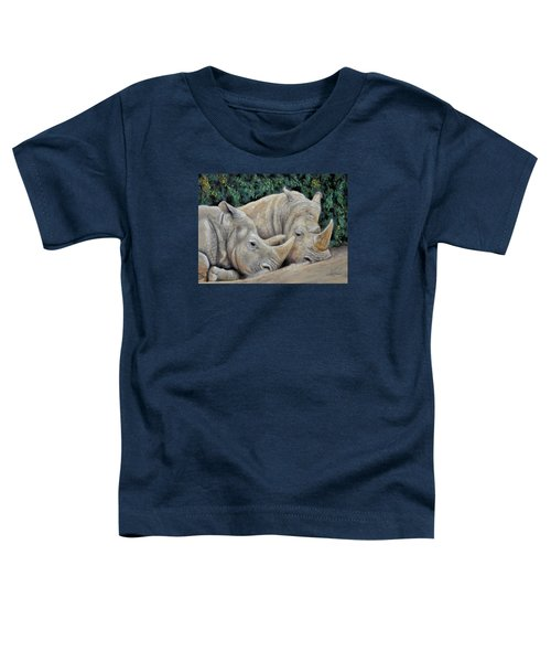 Rhinos Toddler T-Shirt by Sam Davis Johnson