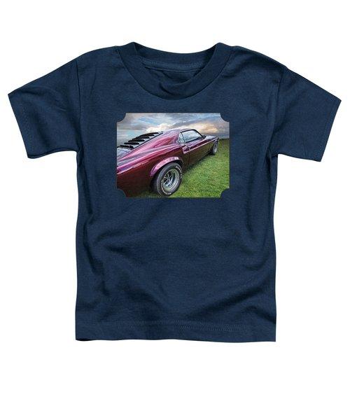 Rich Cherry - '69 Mustang Toddler T-Shirt by Gill Billington