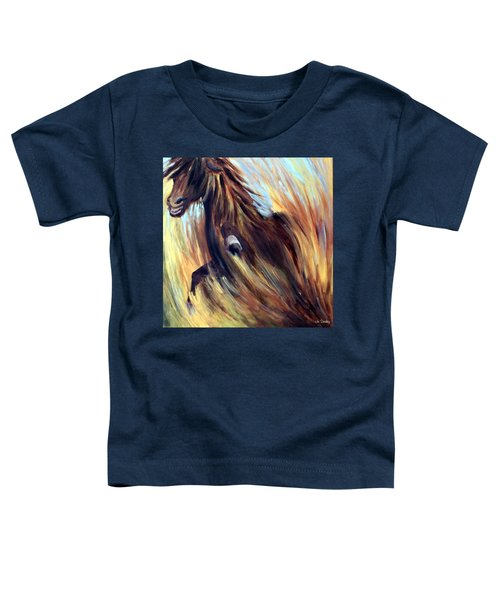 Toddler T-Shirt featuring the painting Rock Star by Joanne Smoley
