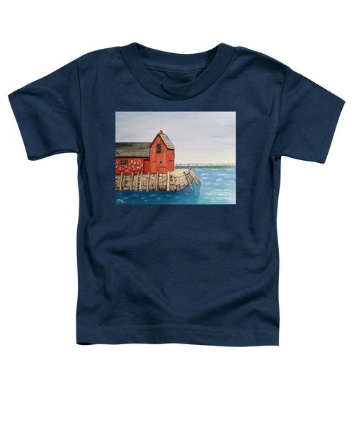 Rockport Motif In Winter Toddler T-Shirt