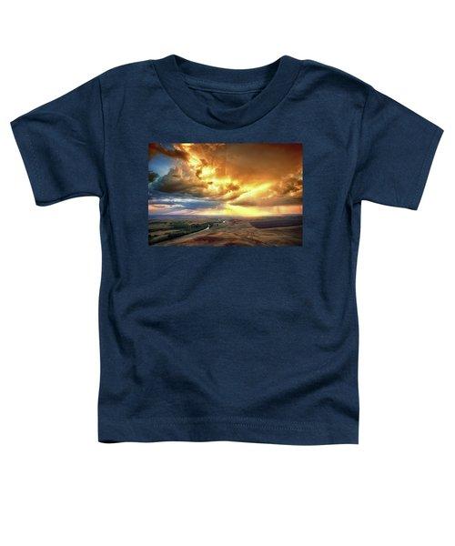 Rolling Rain Of Summer Sunset Toddler T-Shirt