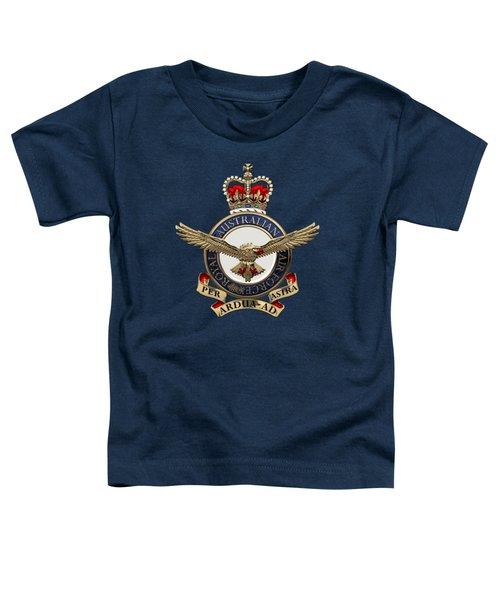 Royal Australian Air Force -  R A A F  Badge Over Blue Velvet Toddler T-Shirt