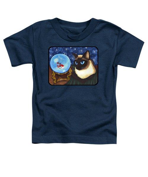 Rue Rue's Fortune - Siamese Cat Koi Toddler T-Shirt