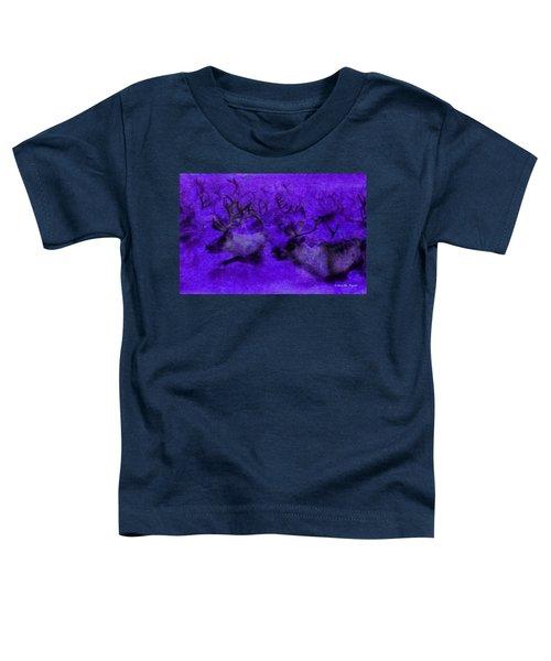 Running Deers Purple - Da Toddler T-Shirt