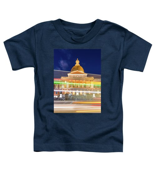 Rush Hour In Front Of The Massachusetts Statehouse Toddler T-Shirt