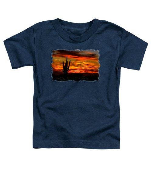 Saguaro Sunset H51 Toddler T-Shirt by Mark Myhaver