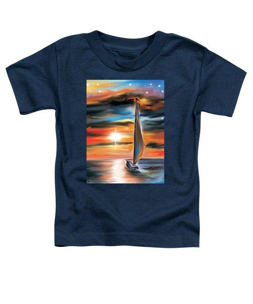 Sailboat And Sunset Toddler T-Shirt