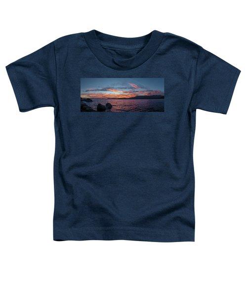 Sand Harbor Sunset Pano2 Toddler T-Shirt